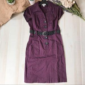 Dress Barn dress, mid length, with belt.